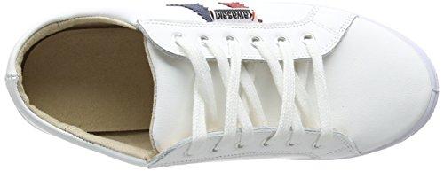 Slam Zapatillas Deporte Unisex White de Kawasaki Leather 7Fdqpw7Z
