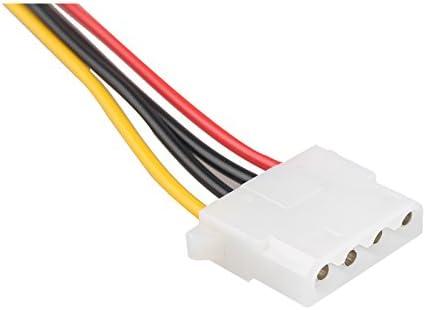 HALJIA 2PCS 20cm SATA to LP4 Power Cable Adapter F//M