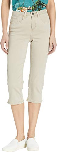 FDJ French Dressing Jeans Women's Solid Cool Twill Olivia Capri in Sand Sand 14 21
