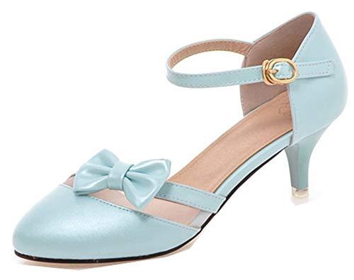 avec Heel 6cm Vous Femme Rendez Nœud Bleu Boucle Chic Aisun Kitten twWgpq8W6