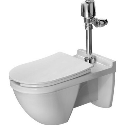 Duravit 2229090000 Toilet Wall Mounted 660Mm Starck 3 White, Siphon Jet,Elong.,Visi.Inlet Toilet Wall Mounted 660Mm Starck 3 Siphon Jet,Elong.,Visi.Inlet