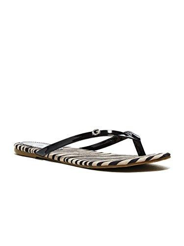 G by GUESS Women's Bayla Zebra Flip-Flops