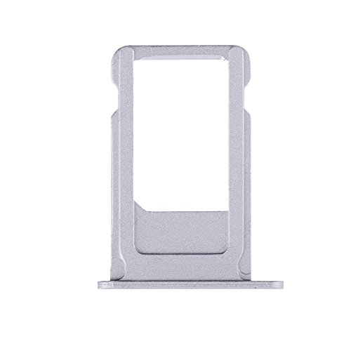 Ewparts for Iphone 6S SIM Tray Slot Replacement +EWPARTS Cloth +Ejack Pin (Silver)