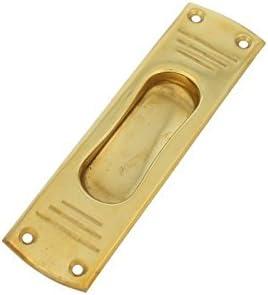Brillante Golden Tirador empotrado Herraje de latón mango hueco ...