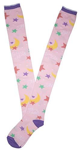 Lolita Charm Moon Power Over Knee Socks-Pink