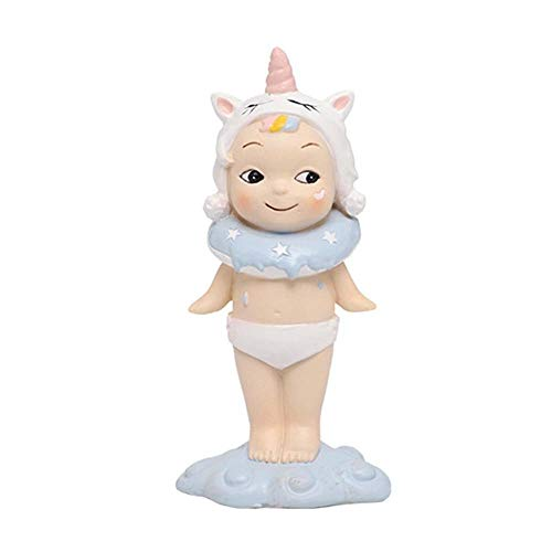 Womdee Cake Toppers Cartoon, Miniature Resin Cute Cartoon Unicorn Rabbit Ornament Statue Figurines Accessories Collectibles for Garden Home Car Decoration Cute Funny Novelty Kids Toys Gift