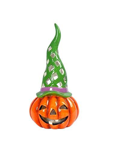 Lightahead Lighted Pumpkin For Halloween Outdoor Garden Path Light (Green)