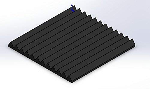FOAMENGINEERING 48-Pack Acoustic Panels Studio Soundproofing Foam Wedge tiles 1''x12''x12'' 100% Made in USA- Great for music sound and noise reduction. by FoamEngineering (Image #3)