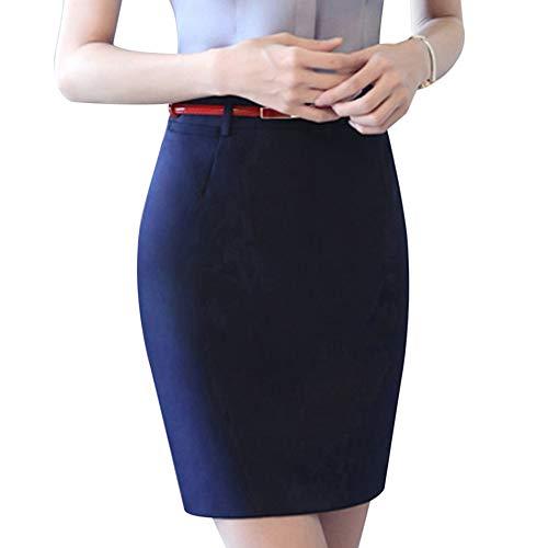Travail OL Commerciale Professionnel Simple Jupe Ymysfit Unie Courte Bleu Businesse Slim Couleur Femme wq8Fnqv