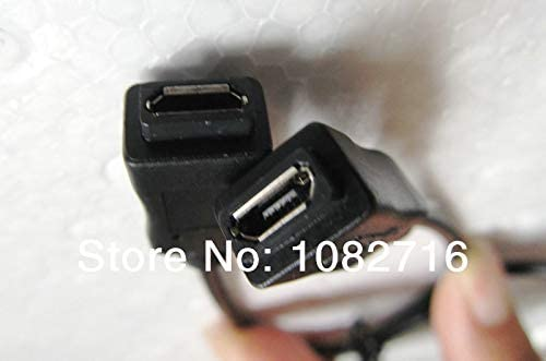 Gimax 2pcs Micro USB b 5pin female to female cable adapter connector Data Charging cord 25cm 0.75ft,