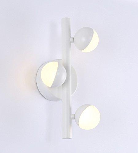 FXING Kreative einfache Gang Flur Treppe Lampe Nachttischlampe (Farbe  weiß, Größe  29  12 cm)