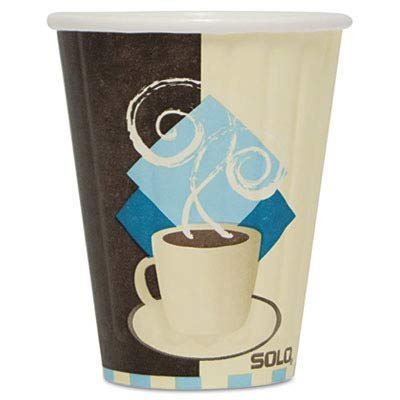 Solo IC8-J7534 8 oz Tuscan Cafe Duo Shield insulated Paper Hot Cup (Case of 1000) ()