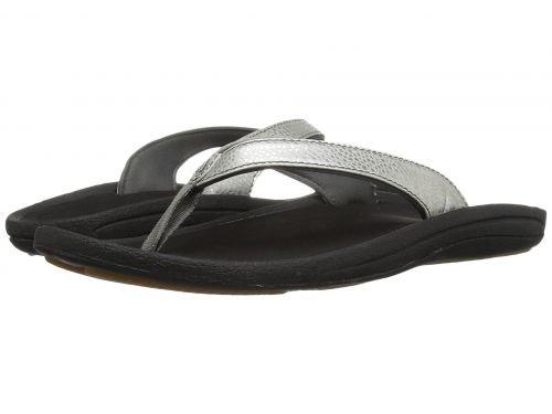 Olukai(オルカイ) レディース 女性用 シューズ 靴 サンダル Kulapa Kai W - Silver/Black 6 B - Medium [並行輸入品]