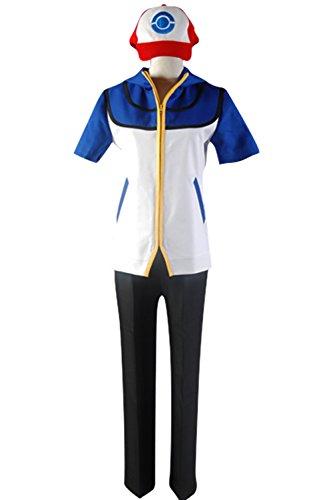 Ash Ketchum Costume Female (Cosplaybar Cosplay Costume Pokemon Ash Ketchum Satoshi Style C Female XXXL)
