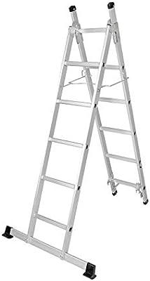 Escalera de aluminio 3 en 1, escalera de 3 escalones, plegable, 11 ...