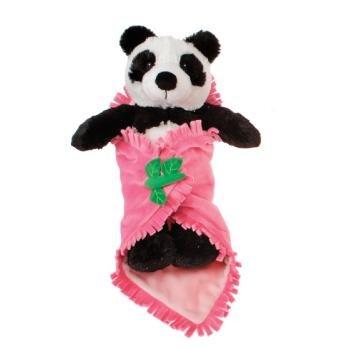 Blanket Babies-11'''' Panda In Baby Blanket Case Pack 12 Kids Children