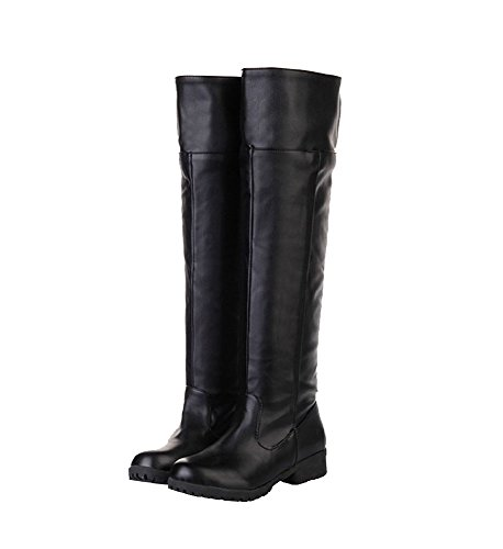[Attack on Titan Shingeki No Kyojin Cosplay Shoes Boots Brown/Black] (Mens Black Knee High Boots)