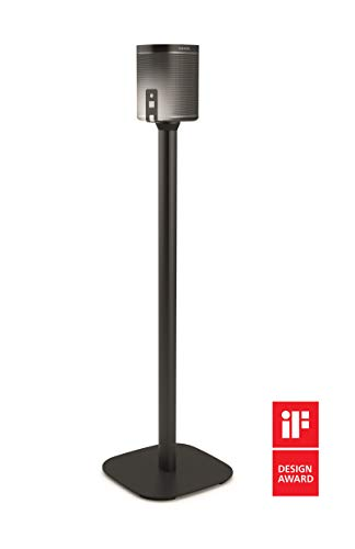Vogel's Speaker Floor Stand for SONOS Play - SOUND 4301 B for Play 1, Black (single stand)