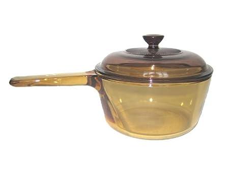 Visions - Cazo de vidrio Pyroceram, de 2,5 litros, color marrón: Amazon.es: Hogar