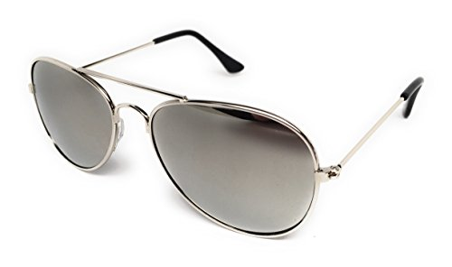 My Shades - Little Childrens Kids Classic Retro Aviator Sunglasses Metal Frame Ages 2 to 5
