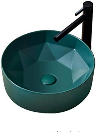 XiuHUa 洗面台バルコニー洗濯プールバスルーム洗面405x405x145mmの洗面化粧台、小さなアパートのホームセンターセラミックシンプル ホームセンター (Color : A)