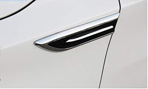 KF-branquias Fender Flujo de Aire 2pcs Coche Adornado 3D tibur/ón branquias de ventilaci/ón Etiqueta Aptos for la Acura MDX RDX TL Tsx RL Chrysler 300c 300 Sebring Accesorios Color : Negro