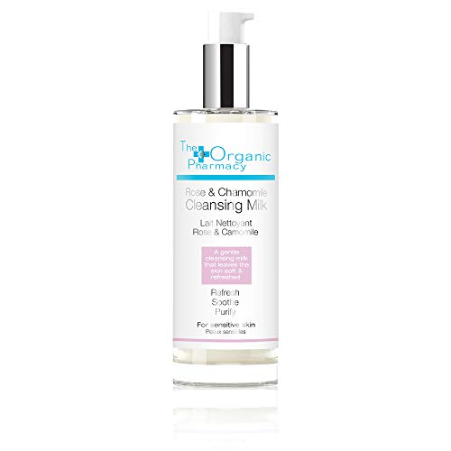 The Organic Pharmacy Rose & Chamomile Cleansing Milk for All Skin Types, 3.4 Ounce ()