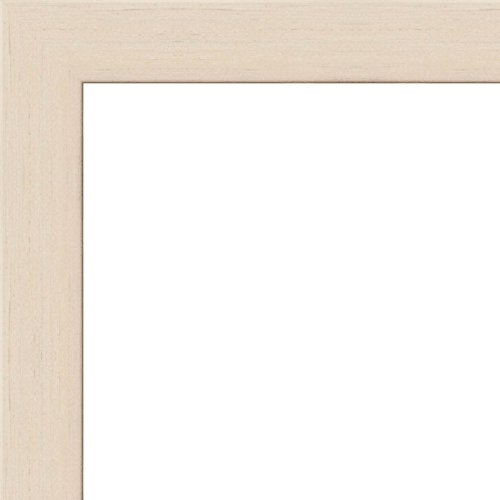 30x40 - 30 x 40 White Wash Flat Solid Wood Frame with UV ...
