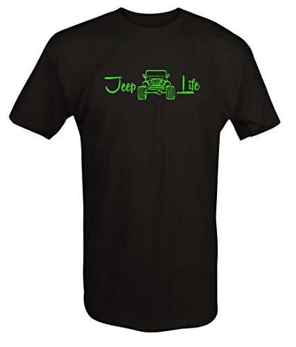 4x 4xl T-shirt - LIME-Jeep Life - 4x4 Off Road - Wrangler Lifted T shirt - 4XL