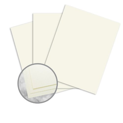 Strathmore 25% Cotton (Strathmore Writing Ivory Paper - 8 1/2 x 11 in 24 lb Writing Laid 25% Cotton Watermarked 500 per Ream)