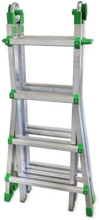 FARAONE 1 Escalera Telescópica Multiusos de 8+8 Peldaños, Metálico, 115x64x20: Amazon.es: Bricolaje y herramientas
