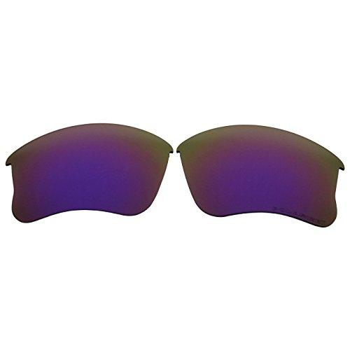 (COODY Replacement Polarized Lenses for Oakley Flak Jacket XLJ Sunglasses (Not Fit Flak Jacket, Flak 2.0) (Purple Mirror))