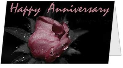 Anniversary Rose Beautiful Love Happy Couple (Q33) Greeting Card by (Birchcraft Card)