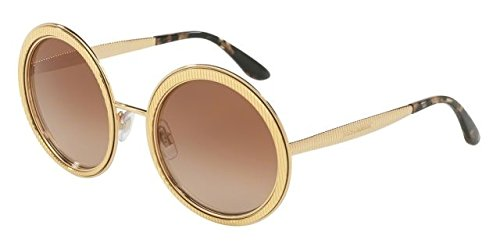 Dolce & Gabbana Women's DG2179 Gold/Brown Gradient - Designer Sunglasses Dolce Gabbana
