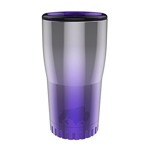 Silver Buffalo NL111495 Ombré Stainless Steel Travel Tumbler, 20-Ounces, Purple