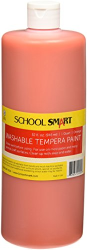 School Smart Washable Tempera Paint - Quart - Orange