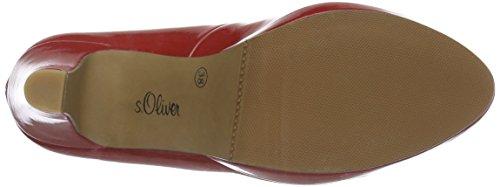 s.Oliver 22407, Zapatos de Tacón para Mujer Rojo (CHILI PATENT 523)