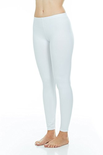 Thermajane Women's Ultra Soft Thermal Pants Bottoms (White, Small) ()