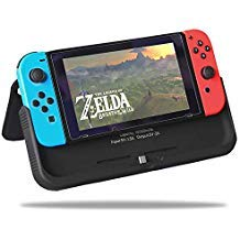 Compatible with Nintendo Switch, Portable Battery Pack Power Bank High Capacity 10000mAh Smart Charging Extended Protective hard leather CASE kit cover with USB output ()