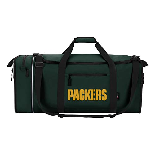 Green Bay Packers Laptop - NFL Green Bay Packers NFL Steal Duffel, Measures 28