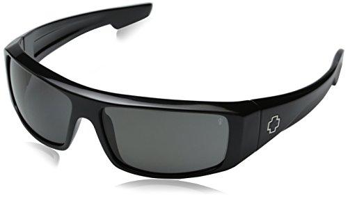 Spy Logan Sunglasses - Polarized Shiny Black/Grey, One Size