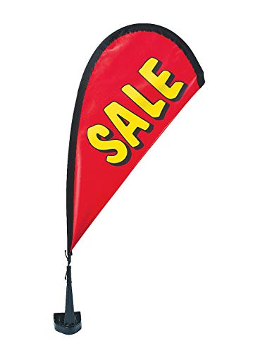 Sale Swoop Car Flag Car dealership or Any Business | Feather Red Banner w/Stand Pole 9 1/2
