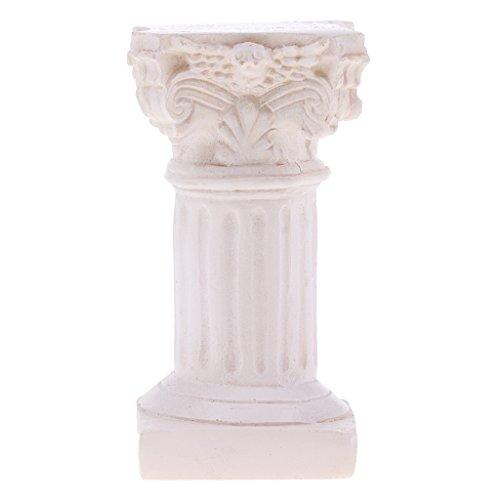 Baoblaze Resin Roman Column Marbel Pillar Model Statue for Sandplay Sand Table Game Kits 1.37 x 1.37 x 2.63inch (Kit Sandplay)