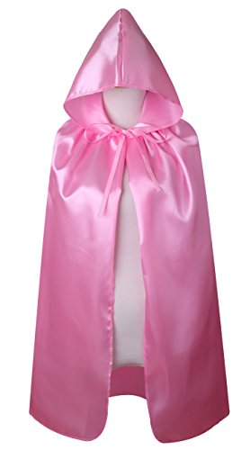 VGLOOK Kids Halloween Costumes Christmas Cloak with Hood Ages 2 to16 (Pink, S/Ages 2-4) ()