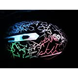 AlexVyan Genuine Accessory USB 6 Button Gaming Optical Lighting Mouse T1 Dragon Wired Mice 2400 DPI / Multi Light Effect/with 1 year warranty,Multi Color Braided Wire