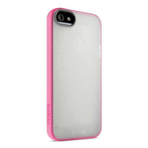 Belkin Clear Case Iphone (Belkin Grip Candy Sheer Case / Cover for iPhone 5 / 5S and iPhone SE (Clear / Pink))