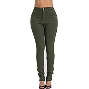 LOVER BRAND FASHION High Rise-Waisted Ladies Skinny Women Colored Denim Destroyed Ripped Distressed Jeans Pants for Women