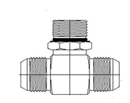 7//16-20 SAE x 7//16-20 SAE x 7//16-20 SAE ORB Thread 1//4 Male JIC x 1//4 Male JIC x 1//4 Male Adjustable O-Ring Boss 7//16-20 SAE x 7//16-20 SAE x 7//16-20 SAE ORB Thread BREGG Brennan Industries 6803-04-04-04-NWO-FG Forged Steel Branch Tee Tube Fitting