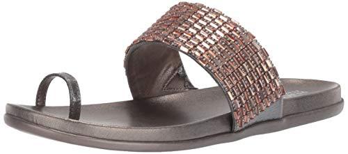 - Kenneth Cole REACTION Women Slim Tricks 2 Toe-Ring Sandal Flat, Pewter/Blush, 8.5 M US