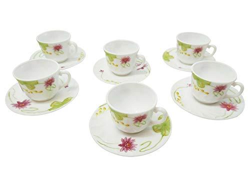 TkUniware 12 Pcs Opal Glassware Espresso Set 6 Cups 6 Saucers 3oz Kitchen, Dining & Bar from TkUniware